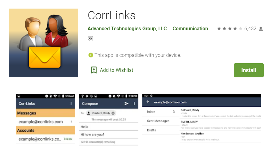 CorrLinks Mobile