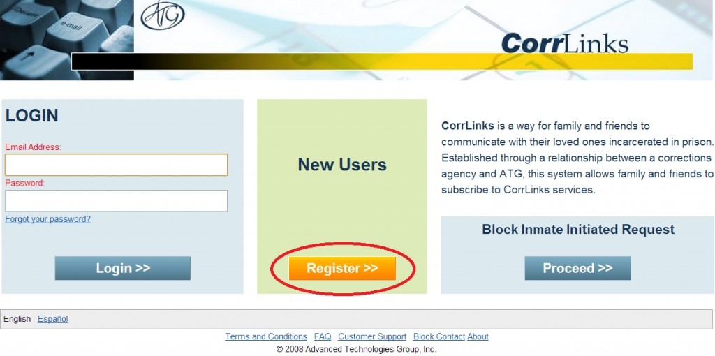 Corrlinks Registration